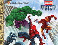 Marvel Super Heroes Little Golden Book art