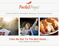 Packo's Pages Monthly Email Newsletter
