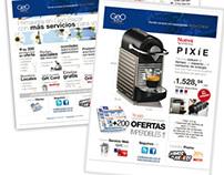 Newsletters comerciales/de salutaciones para Geo Bazar