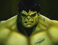 The Incredible Hulk Painting