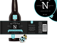 Nilland - Typographic Beer Label