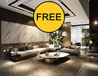 FREE 3D Interior Kitchen- Livingroom 60