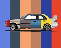 Mitsubishi Classic Club Automotive illustration