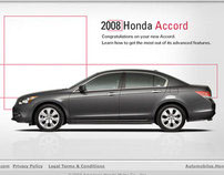 Honda Accord Microsite, DVD Interface & Packaging