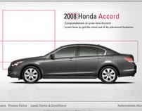 Honda Accord Microsite, DVD Interface & Packaging