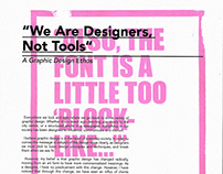 "BSGD Ethos — ""We Are Designers, Not Tools"""