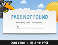 Cool Crow 404 Page