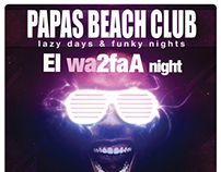 Weekly party flyers, PAPAS Beach Club, Hurghada, Egypt
