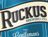 Ruckus Beer Label