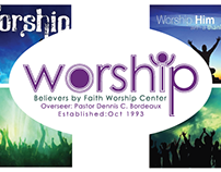 "personalized ""worship"" banner for a church"