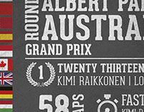 F1 Typography/Infographic Poster