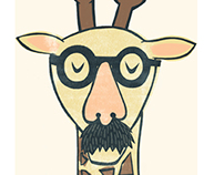 Mustachioed Giraffe
