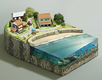 Island 3D Illustration