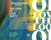 The Look of Love promotional poster Broadway Cinebar