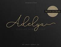 FREE | Adelya - Elegant Signature Font