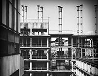 Pitch black factory