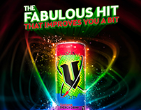 Mardi Gras Rainbow V Energy Drink