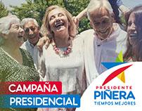 Campaña Presidencial, Sebastián Piñera