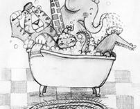 Zoo Bathtime Sketch