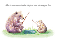 Bear and his son go fishing