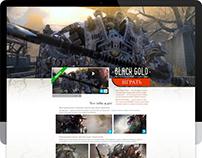 Black Gold. MMORPG. Landing page.