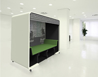 Nap in the office-cube