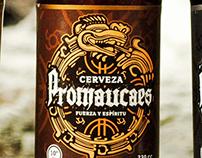 """Etiqueta para cerveza artesanal """"Promaucaes"""""""