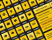 Sleek Golden Web Elements