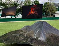 Volcán de Colima en Realidad Aumentada.