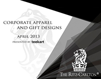 The Ritz-Carlton corporate apparel and gift designs
