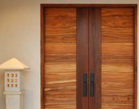 CARVED TEAK ENTRY DOORS