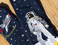 One Giant Leap socks for Sock It To Me