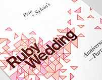 Ruby Wedding Invites