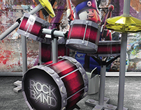 Warner Interactive ~ LEGO Rock Band Card Drumkit & FSDU