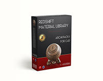 Redshift material library for C4D - Archi pack 1