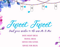 Twitter-Themed Wedding Stationary and Shirt Design