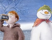 IRN-BRU Snowman
