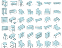 Technical Furniture Illustrations