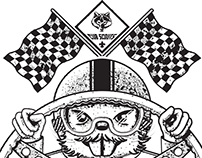 Pinewood Derby T-shirt illustration.