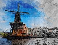 holland watercolor