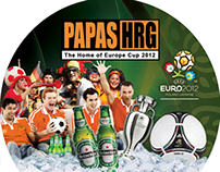 Europe Cup flyer for PAPAS Bar