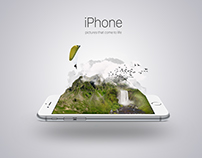 iPhone creative poster