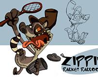 zippites Racket Raccoon