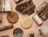 yeso hierro madera