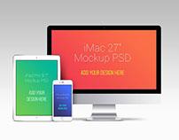 Free iMac iPad and iphone s6 Mockups