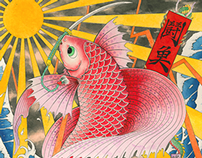ukiyo-e betta fish