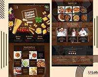 Website Template UI Design | PSD