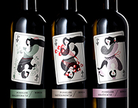 Puhelek wine label illustration