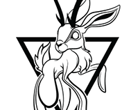 Jackalope Tattoo design