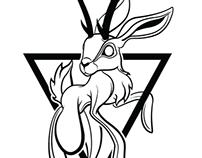 Jackalope Tattoo design